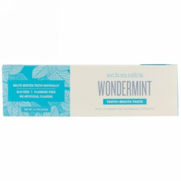 Schmidt's, Tooth + Mouth Paste, Wondermint , 4.7 oz (133 g)