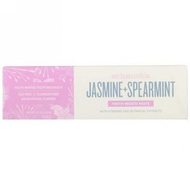 Schmidt's Naturals, Tooth + Mouth Paste, Jasmine + Spearmint, 4.7 oz (133 g) (Discontinued Item)