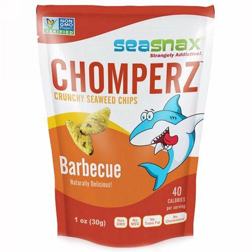 SeaSnax, Chomperz™(チョンパーズ)、カリカリ海藻チップス、バーベキュー、1 オンス (30 g)