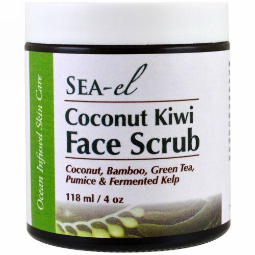 Sea el, ココナッツとキウイフルーツのフェーススクラブ , 4 oz (118 ml)