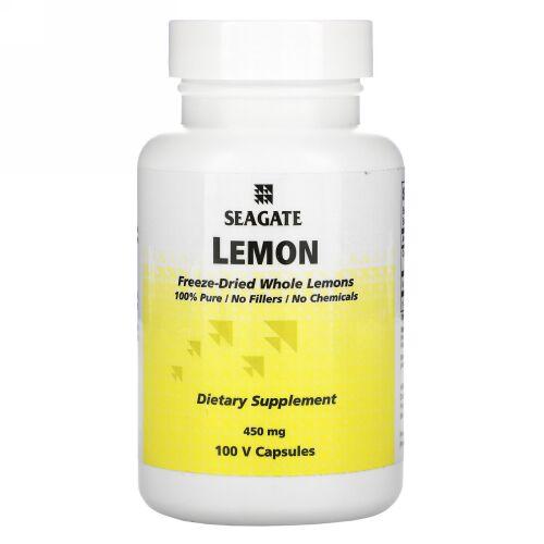 Seagate, レモン、 450 mg、Vキャップ 100錠