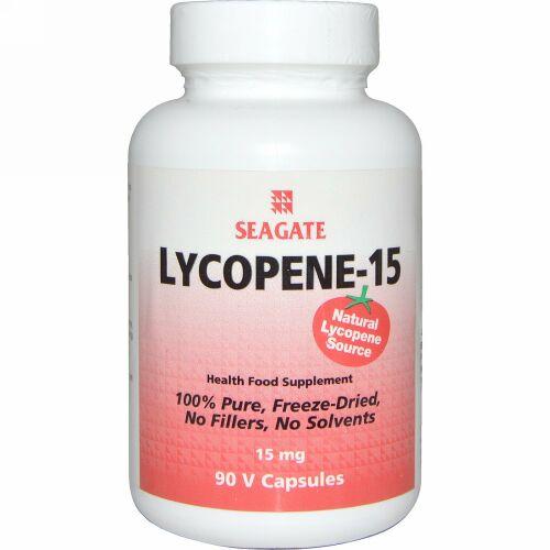 Seagate, リコピン-15、 15 mg、 90ベジキャップ