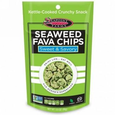 Seapoint Farms, 海藻そら豆チップス、甘く香ばしい (99 g) (Discontinued Item)