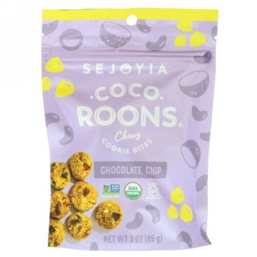 Sejoyia, ココルンズ、チュウイクッキーバイト、チョコチップ、3オンス(85g) (Discontinued Item)