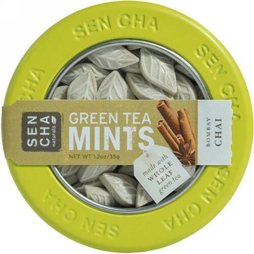 Sencha Naturals, 緑茶ミント、ボンベイチャイ、1.2オンス (35 g) (Discontinued Item)