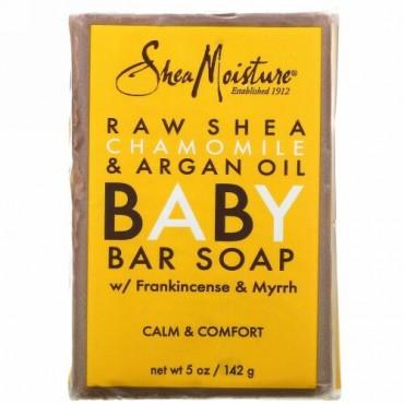 SheaMoisture, 赤ちゃんの湿疹用石鹸、生シアバター・カモミール&アルガンオイル、5オンス (141 g)