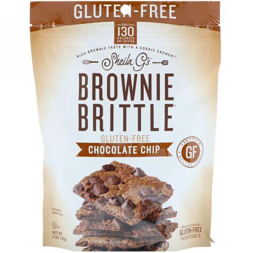 Sheila G's, Brownie Brittle, Gluten-Free, Chocolate Chip, 5 oz (142 g)