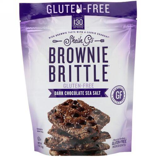 Sheila G's, Brownie Brittle, Gluten-Free, Dark Chocolate Sea Salt, 5 oz (142 g)