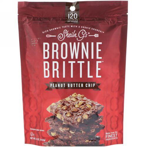 Sheila G's, Brownie Brittle, Peanut Butter Chip, 5 oz (142 g) (Discontinued Item)