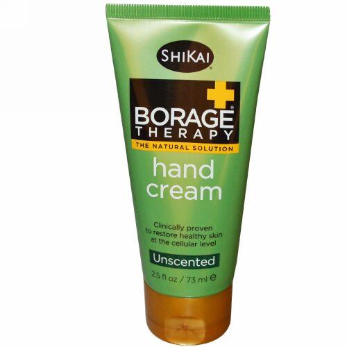 Shikai, Borage Therapy、ハンドクリーム、アロエベラジェル、無香料、 2.5 液量オンス (73 ml) (Discontinued Item)