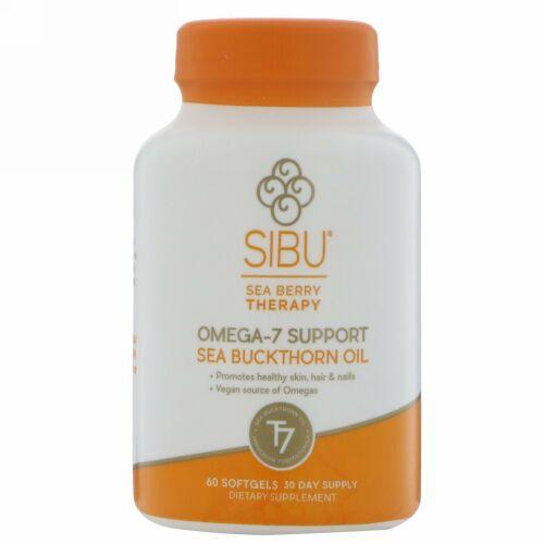 Sibu Beauty, シーベリーセラピー, オメガ7サポート, シーバックソーンオイル, 60ソフトゼリー