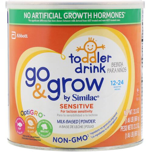 Similac, Toddler Drink, Go & Grow, Sensitive, 12-24 Months, 23.3 oz (661 g) (Discontinued Item)