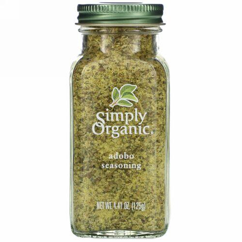 Simply Organic, アドボ・シーズニング、 4.41 オンス (125 g)