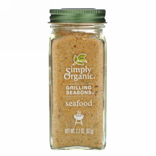 Simply Organic, グリルシーズンズ、 シーフード、 オーガニック、 2.2 oz (62 g)