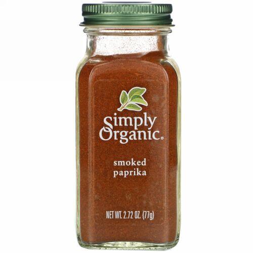 Simply Organic, オーガニック・スモークパプリカ、2.72 oz (77 g)