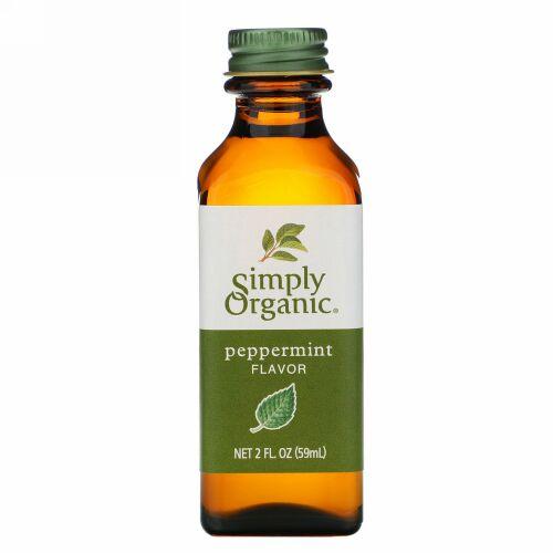 Simply Organic, ペパーミントフレーバー、 2液量オンス (59 ml)