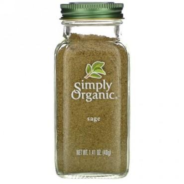 Simply Organic, セージ, 1.41 オンス (40 g)