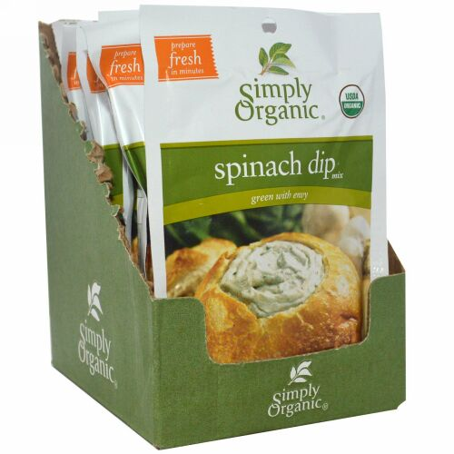Simply Organic, Spinach Dip Mix, 24 Packets, 1.41 oz (40 g) Each (Discontinued Item)