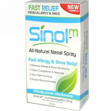 Sinol, SinolM, All-Natural Nasal Spray, Fast Allergy & Sinus Relief, 15 ml