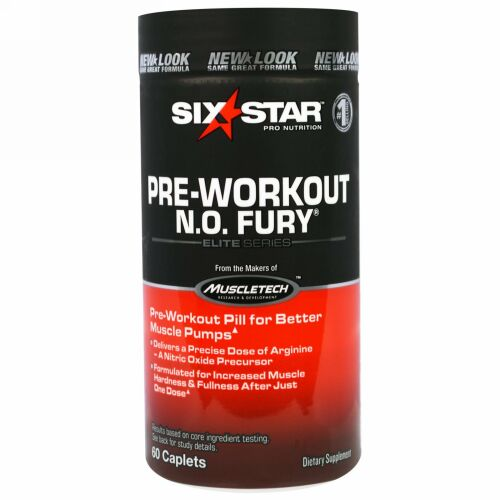 Six Star, Elite Series, Pre-Workout N.O. FURY, 60 Caplets