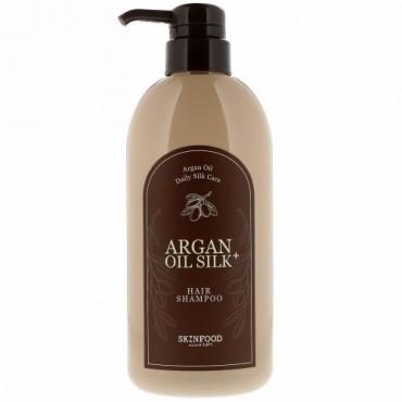 Skinfood, アルガンオイル・シルクブラス、髪用シャンプー、500ml(16.09 fl oz) (Discontinued Item)