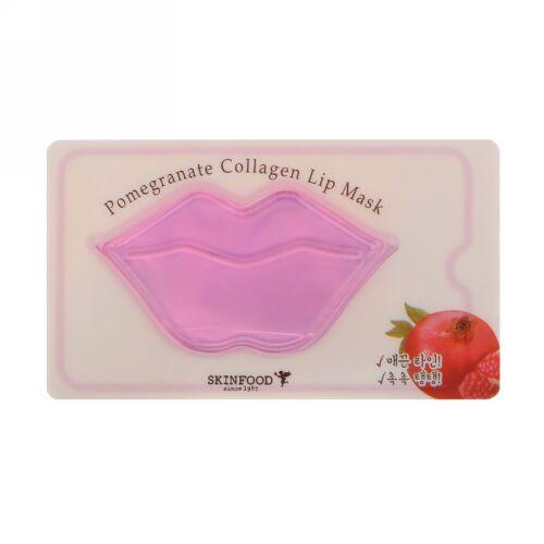 Skinfood, Pomegranate Collagen Lip Mask, 1 Sheet, 0.28 oz (8 g) (Discontinued Item)
