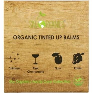Sky Organics, Organic Tinted Lip Balms Set, 4 Pack, .15 oz (4.25 g) Each (Discontinued Item)