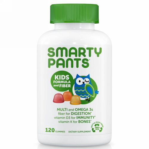 SmartyPants, Kid Formula and Fiber, 120 Gummies