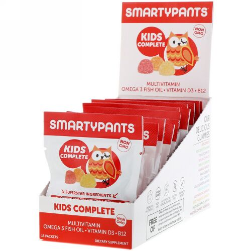 SmartyPants, Kids Complete Multivitamin, Strawberry Banana, Orange and Lemon, 15 Packets (Discontinued Item)