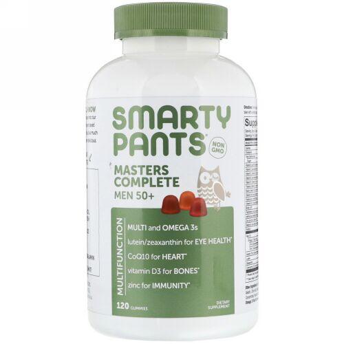 SmartyPants, Masters Complete Men 50+(マスターズコンプリートメン50プラス)、グミ120粒 (Discontinued Item)