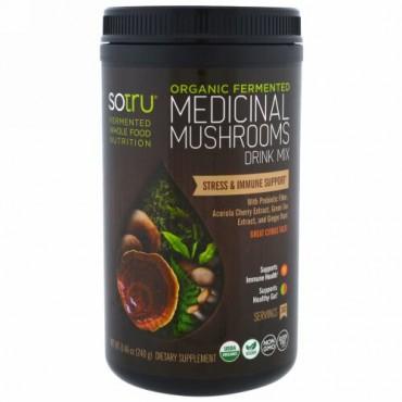 SoTru, 有機発酵された薬用キノコドリンクミックス、ストレス&免疫サポート、8.46オンス(240 g) (Discontinued Item)