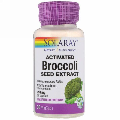 Solaray, 活性化ブロッコリーシードエキス, 30 ベジカプ