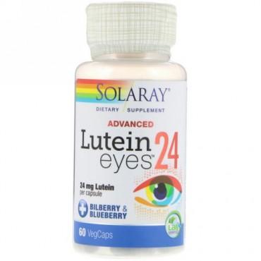 Solaray, アドバンスド、ルテインアイズ、24 mg、ベジキャップ60錠