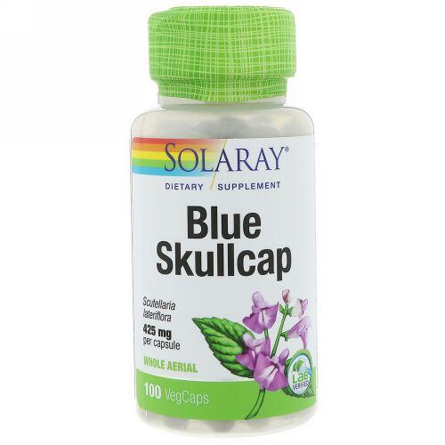 Solaray, Blue Skullcap, 425 mg, 100 VegCaps (Discontinued Item)