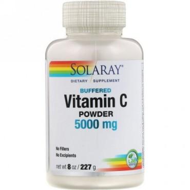 Solaray, Buffered Vitamin C Powder, 5,000 mg, 8 oz (227 g) (Discontinued Item)