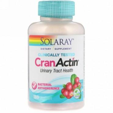 Solaray, CranActin、尿管の健康、180野菜カプセル