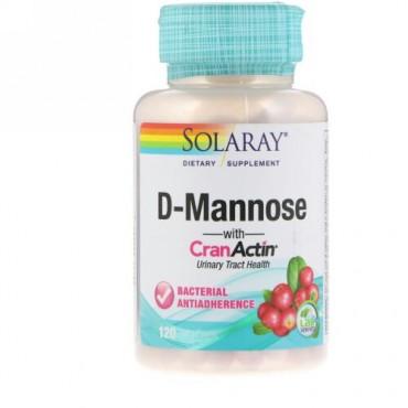 Solaray, D-マンノース、クランアクチン(CranActin)配合、ベジキャップ使用 120 錠