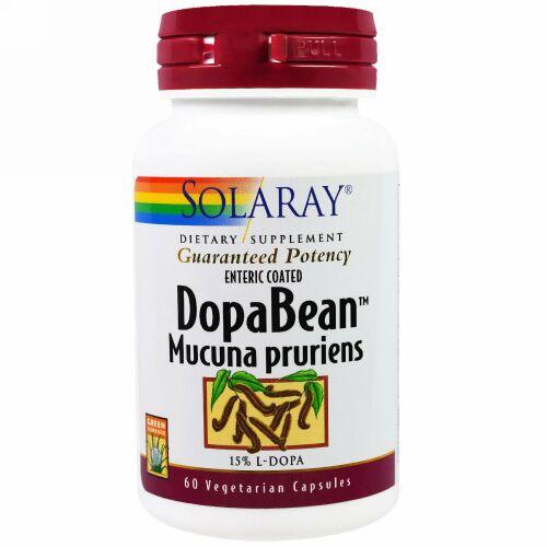 Solaray, ドーパビーン(DopaBean)、ムクナ、ベジタリアンカプセル 60 錠