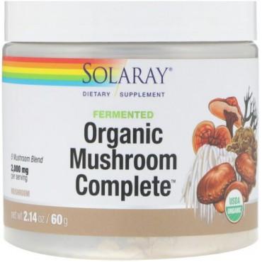 Solaray, 発酵オーガニックマッシュルームコンプリート、60g (Discontinued Item)