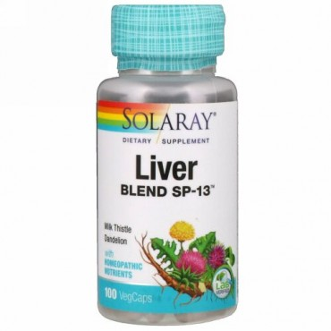 Solaray, Liver Blend SP-13, 100 Easy-To-Swallow Capsules