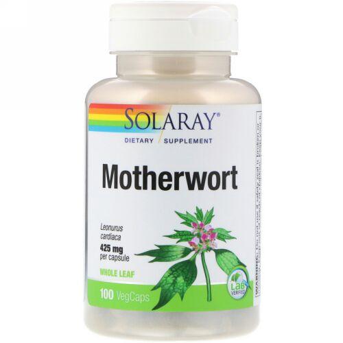 Solaray, マザーウォート、425 mg、100植物性カプセル (Discontinued Item)