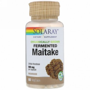 Solaray, Organically Grown Fermented Maitake, 500 mg, 60 VegCaps (Discontinued Item)
