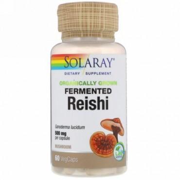 Solaray, 有機栽培発酵レイシ、500 mg, 植物カプセル60粒 (Discontinued Item)