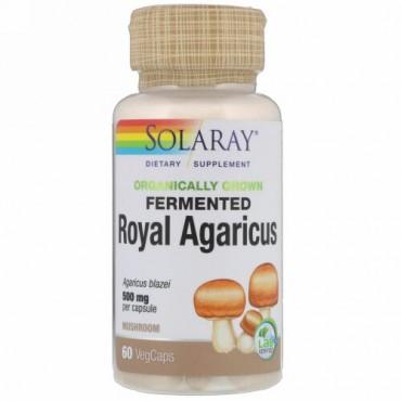Solaray, オーガニック発酵ロイヤルアガリクス、キノコ、500 mg、60植物性カプセル (Discontinued Item)