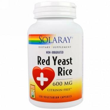 Solaray, レッドイースト ライス, 600 mg, ベジカプセル 120粒 (Discontinued Item)