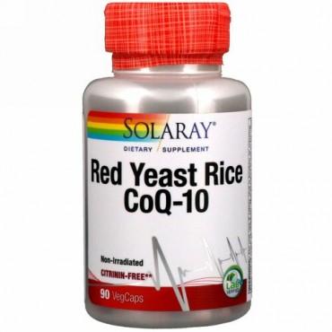 Solaray, 紅色酵母米 + コエンザイムQ-10、ベジキャップ使用 90 錠