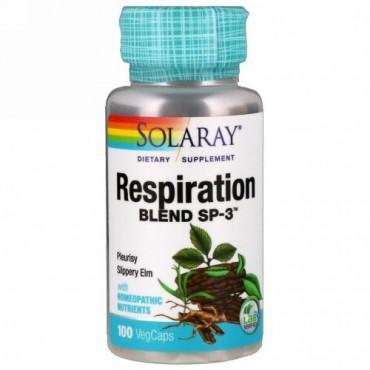 Solaray, レスピレーション(呼吸)ブレンド SP-3、 ベジタリアンカプセル 100 錠