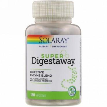 Solaray, Super Digestaway, Digestive Enzyme Blend, 180 VegCaps