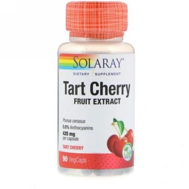 Solaray, タルトチェリーフルーツエキス、425 mg、90野菜カプセル
