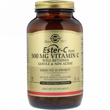 Solgar, エステル-Cプラス、500 mg、250植物性カプセル